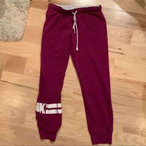 Victoria's Secret PINK Cropped Joggers - Small